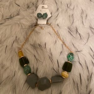 multi-stone and earrings NWT!